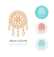 Dream catcher Modern line icon of vector image