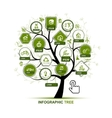 Infographic concept - tree with ecology icons for vector image
