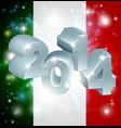 2014 italian flag vector image vector image