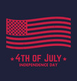 4th of july independence day in usa poster vector image
