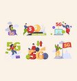 5g characters fast mobile internet future vector image vector image