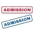 Admission Rubber Stamps vector image vector image