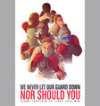 awareness poster to encourage healthcare workers vector image