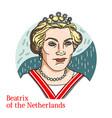 beatrix netherlands portrait vector image vector image