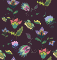 Beautiful dark floral seamless pattern vector image vector image