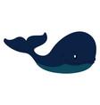 Big blue whale print on white background