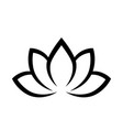 black calligraphic lotus blossom yoga symbol vector image vector image