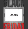 black friday advertising realistic web vector image