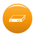 book biology icon orange vector image