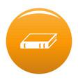 book biology icon orange vector image vector image