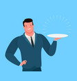 businessman or seller offers a profitable business vector image vector image