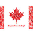canada day greeting card vector image
