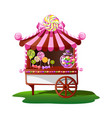 candy shop with a cheerful decor vector image vector image