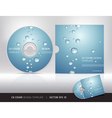 Cd cover design with water drop vector image vector image