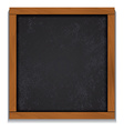 Chalkboard wood frame isolated on white background vector image