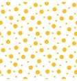 Circle yellow seamless pattern vector image vector image