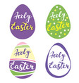 collection easter eggsr religious symbol of vector image