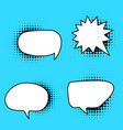colorful speech bubble variation in vector image vector image