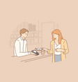 contactless payment online transaction concept vector image