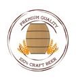 craft barrel beer premium quality vector image