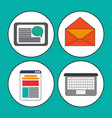 digital marketing concept collection icons vector image vector image