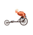 disabled male character with amputated legs ride vector image vector image