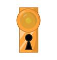 dooe knob handle symbol icon design vector image vector image