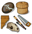 elements and objects of the ancient ages vector image