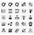 engineering icons set on squares background for vector image