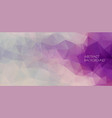 flat abstract polygonal banner background vector image vector image