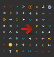 flat arrows set colorful ector arrow collection vector image