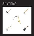 flat icon garden set of shovel tool harrow and vector image vector image