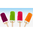 four ice creams vector image vector image