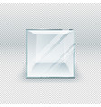 glass cube isolated on transparent template vector image