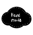 hand made sticker tag black vector image