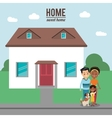 Home house building and family design vector image
