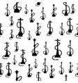 hookan silhouette seamless pattern vector image