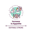 increase in appetite concept icon