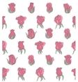 light seamless background with pink roses vector image vector image