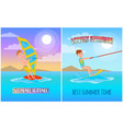lovely summer best time color vector image