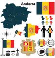 Map of Andorra vector image vector image