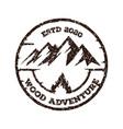 mountain adventure logo vector image