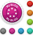 My blog award vector image vector image