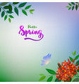 nature flowers and butterfly on soft background vector image vector image
