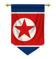 north korea pennant vector image