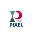 one pixel logo vector image