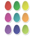 paper eggs vector image