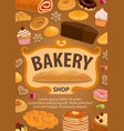 pastry or bread confectionery food bakery shop vector image vector image