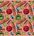 pattern with clothes buttons vector image