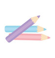 pencils color draw art icon design white vector image